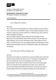 Yetisuche im Labor Mit Haaren, Knochen und Genetik - WDR 5