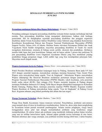 Rangkuman Pemberitaan PNPM Mandiri - Juni 2013