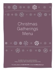 Holiday Gatherings Menu
