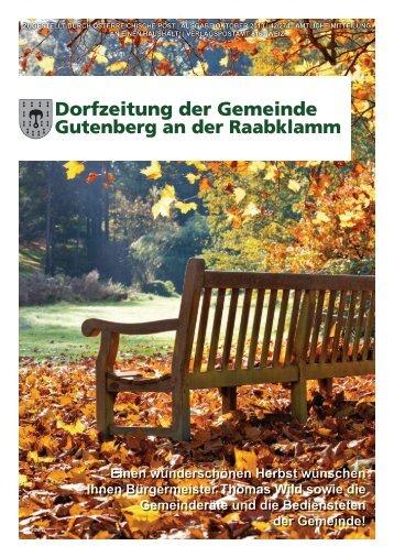Ausgabe 03/2013 - Gemeinde Gutenberg an der Raabklamm