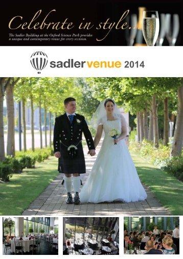Download 2014 Wedding Brochure - The Sadler Building