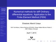 Numerical methods for stiff Ordinary differential equations ... - BCAM