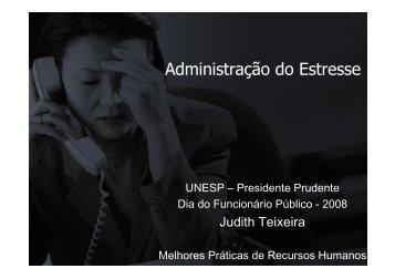 Administração do Estresse - UNESP - judith