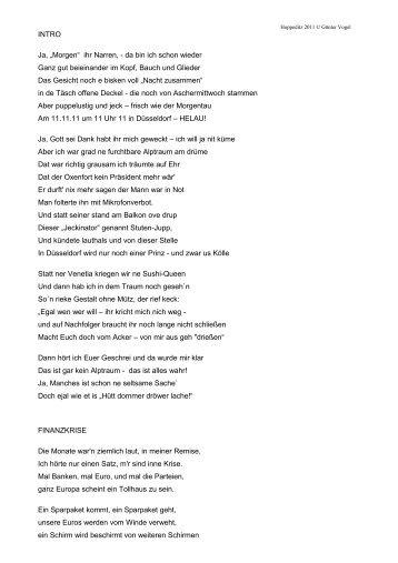 Hoppeditz Rede 11.11.11