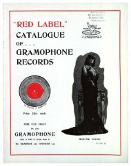 Red Label Catalogue of Gramophone Records, 1901