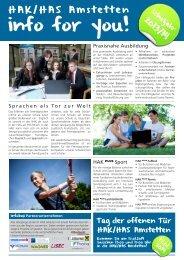 Infoblatt Schuljahr 2013/14
