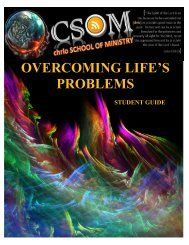 overcoming life's problems - Church 4:18 - School of Ministry ...