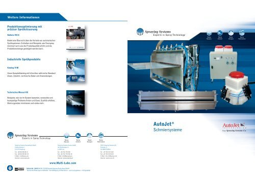 1.604-D AutoJet Schmiersysteme - Spraying Systems Co.