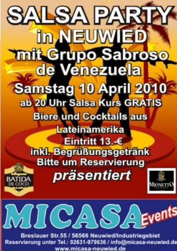 Salsa Party Flyer in PDF - MICASA