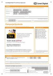 Kampanjerbjudande - Canal Digital Kabel-TV