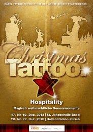 Hospitalitybroschüre - Christmas Tattoo 2013