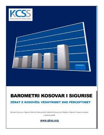 Barometri Kosovar i Sigurisë - Zërat e Kosovës - QKSS