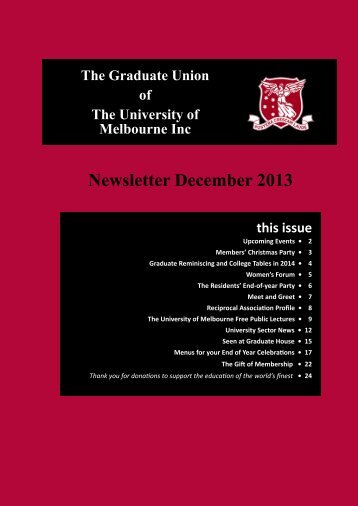 Download Newsletter December 2013 - Graduate House