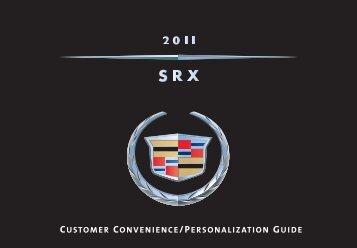 CUSTOMER CONVENIENCE/PERSONALIZATION GUIDE - Cadillac