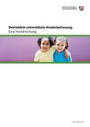 Betrieblich unterstützte Kinderbetreuung. - DRK Kindergarten ...