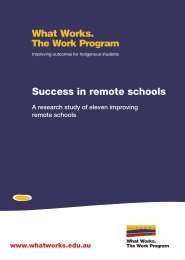 Success in remote schools - What Works
