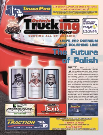 Ontario Trucking News, Issue 118, May 2013