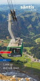 Come up and look down - Säntis