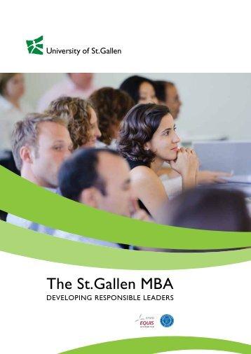 The St.Gallen MBA - Quantum Test Prep