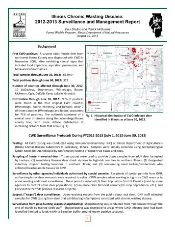 Illinois Chronic Wasting Disease: 2012-2013 Surveillance and ...