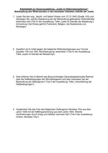 Arbeitsblatt 2: Europäischer Widerstand