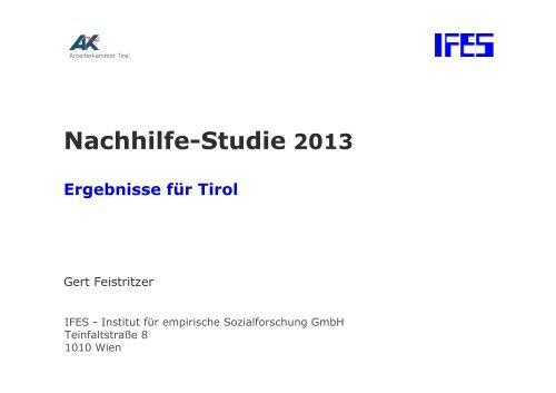 21200003_Nachhilfe 2013 Tirol Charts - Arbeiterkammer