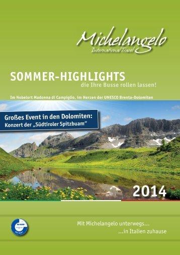SOMMER-HIGHLIGHTS - Michelangelo International Travel
