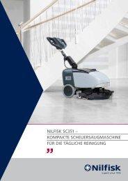 NILFISK SC351 – KOMPAKTE SCHEUERSAUGMASCHINE FÜR ...