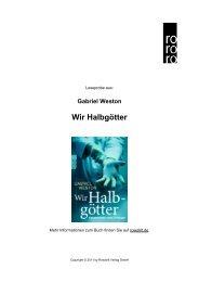 Wir Halbgötter - Rowohlt Theaterverlag