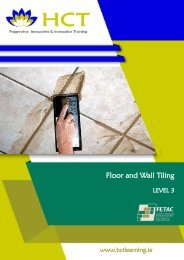 Floor and Wall Tiling FETAC Level 3, 3N0523