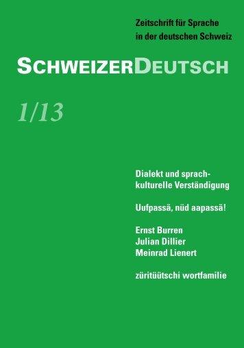 SchweizerDeutsch 1/13