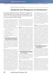 28 Standpunkte beim Management von Ovarialtumoren