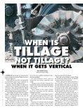 TILLAGE NOT TILLAGE? PRECISION TILLAGE TILLAGE HOLDS ON - Page 4
