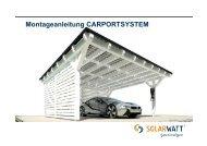 Montageanleitung CARPORTSYSTEM - Solarwatt