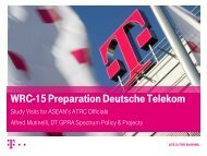 WRC-15 Preparation Deutsche Telekom - Alfred ... - Readi Asean