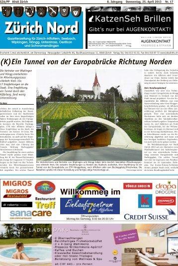 (K)Ein Tunnel von der Europabrücke Richtung Norden - Lokalinfo AG
