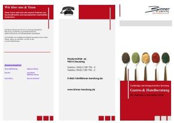 Flyer UMB Gastro (PDF) - Gastro-Hotelberatung
