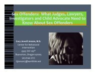 Sex Offenders: What Judges, Lawyers ... - Victim Services