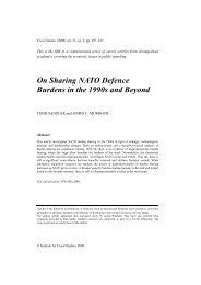On sharing NATO defence burdens in the 1990s and beyond
