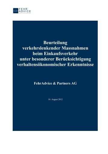Studie FehrAdvice-def. Version-16.8.2012 - espace mobilité