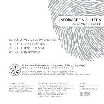 UTM Information Bulletin - University of Technology and Management