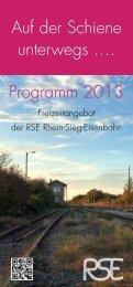 Programm 2013 Auf der Schiene unterwegs …. - RSE Rhein-Sieg ...