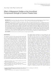 Effect of Magnesium Sulfate on the Unconfined Compressive ...