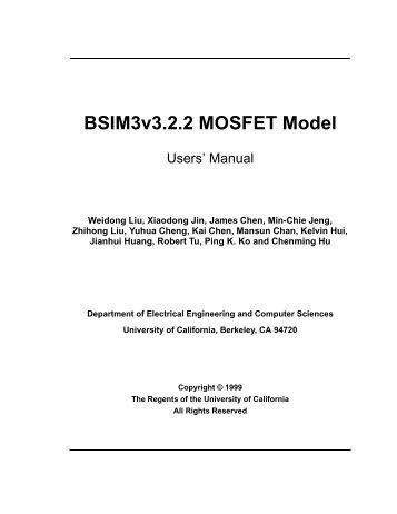 BSIM3v3.2.2 MOSFET Model - The University of Texas at Dallas