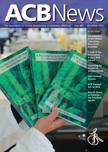 ACB News - Association of Clinical Biochemists