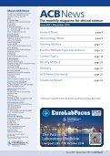 ACB News - Association of Clinical Biochemists - Page 3