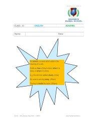 Class III – English – Adverb - Sachdeva Global School