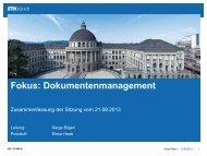 Bericht Fokussitzung Dokumentenmanagement - ITEK