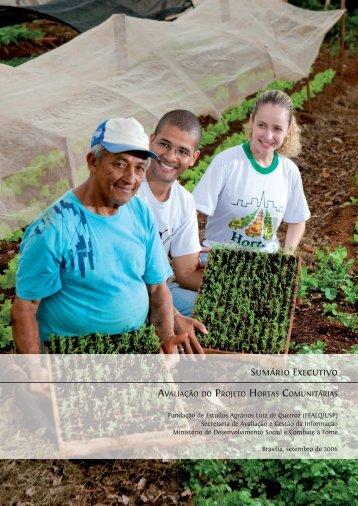 Avaliação do Projeto Hortas Comunitárias.indd - MDS