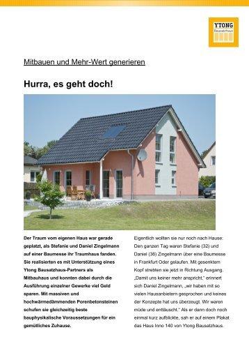 Bauherren-Reportage als Download - Ytong Bausatzhaus GmbH